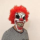 Clown Evil Overhead Mask,Masque Effrayant De Joker avec Cheveux Roux,Masque d'horreur...