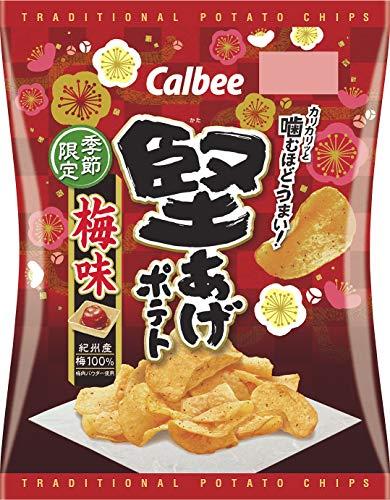 カルビー 堅あげポテト 梅味 60g ×12袋