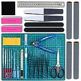 WiMas 31PCS Kit di Strumenti Modello Gundam, Gundam Model Assemble Tools, Hobby Building Craft Set per la Riparazione di Modelli di Edifici