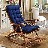 Indoor Plein Air Chaise Salon Coussin,À Bascule Coussin De Chaise,Chaise De Rotin Coussin De Siège Tatami Tapis pour Jardin Chaise Lounge Lavable-Blue-a 48x125cm(19x49inch)