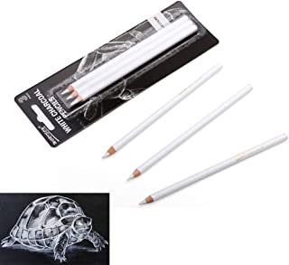 BXKEJI Art Supplies 3Pcs White Highlighter Sketch Sketch Charcoal Standard Pencil Drawing Pencil Set School Tool Painting...