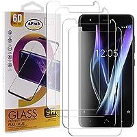 Guran 4 Paquete Cristal Templado Protector de Pantalla para BQ Aquaris X Pro/BQ Aquaris X Smartphone 9H Dureza Anti-Ara?azos Alta Definicion Transparente Película