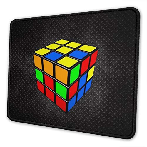Gaming Mouse Pad - Cube Rubik Rectangle Rubber Mousepad - 7.9 X 9.5 in X 0.12''(3mm Thick) Mouse Mat for Gift Support Wired Wireless Or Bluetooth Mouse