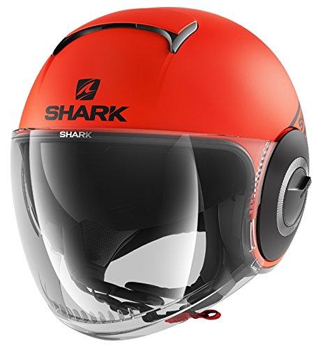 Shark Motorradhelm NANO STREET NEON MAT OKK, Orange, M