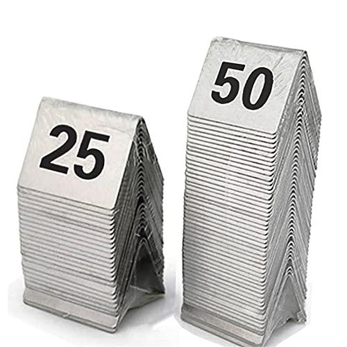 Números De Mesa 1-25 / 50, Tarjetas De Número De La Tabla...