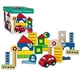 Goula- Arquitecturas pack de 26 piezas, bloques de construcción, Color surtido, (Diset 50202)