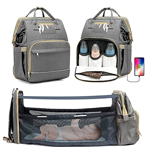 3-In-1 Expandable Diaper Backpack