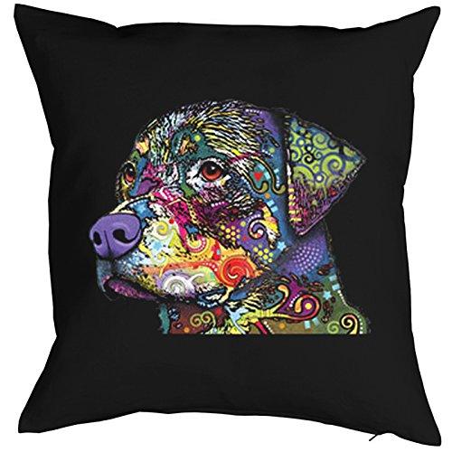 The Rottweiler Pillow, oreiller, almohada, Cuscino Pop Art Style