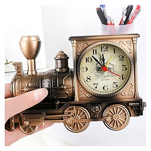 JSJJAUA Figura de acción Dibujos Animados Locomotora Tren Despertador Reloj plástico Modelo...