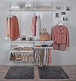 ib style® Regalsystem | Kleiderschrank | Garderobe| Individuell zusammenstellbar | DIY |Haken klein für Tragestange