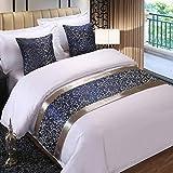 Twelve Blue Floral King Bed Scarf Bed Runner Bedding Scarves Bed...