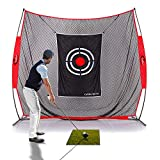 GALILEO Golf Practice Net 7x8Feet Golf Hitting Nets Driving Range Indoor Outdoor Golf Training Aids with Target Carry Bag