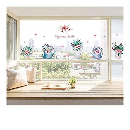 SMXGF DIY geheimnisvolle Garten Glas Fenster TV Hintergrund Wand Dekoration Abnehmbare Dekorative Folien