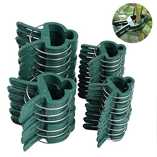 Plant Support Clips, Gardening Plant & Flower Lever Loop Gripper Clips, Garden Tomato Plant Support Clips for Supporting Stems, Tool for Straightening Plant Stems, Stalks, and Vines