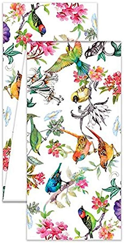 The Deborah Michel Collection FTRM296 Turkish Cotton Table Runner 60 Bird Song