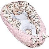 Cálida cuna para recién nacidos, de algodón y Minky con certificado Oeko-Tex Rosa Claro Minky