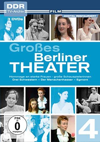 Großes Berliner Theater, Vol. 4: Hommage an starke Frauen - große Schauspielerinnen - Drei Schwestern - Der Menschenhasser - Egmont (DDR TV-Archiv) [3 DVDs]