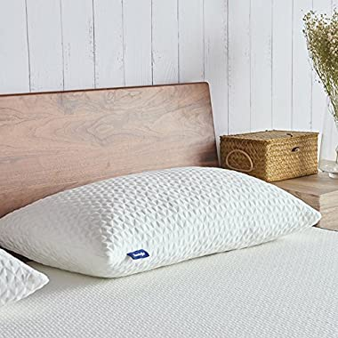 Sweetnight Pillows for Sleeping, Adjustable Loft & Neck Pain Relief-Shredded Hypoallergenic Certipur Gel Memory Foam Pillow with Removable Case,Bed Pillows for Side Back Stomach Sleeper,Queen Size