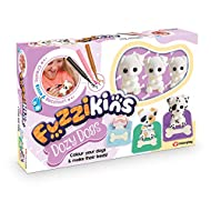Fuzzikins are adorable flocked creatures to colour and play with It's bed time for three adorable dogs. Colour them and make them cozy in their beds. Includes 3 dog figurines, felt tip pens, sleeping bags and plenty of other accessories to personalis...