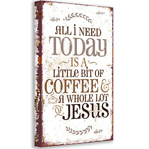 All I Need Today Many popular brands is Coffee Jesus and shopping Unframed Religiou - Print