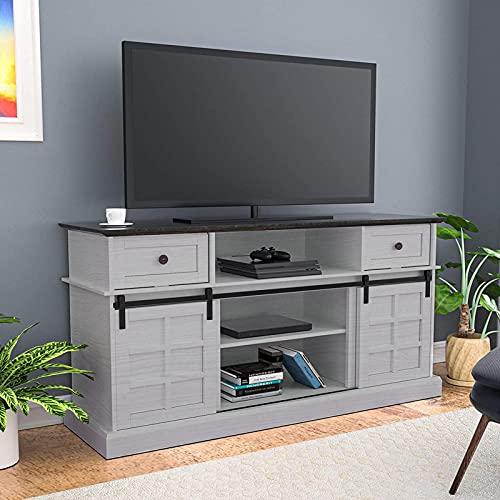 Mueble Salón Comedor Moderno Mesa para TV, Consola Centro multimedia Entretenimiento en el hogar Gabinete de TV blanco