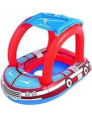 عوامة سباحة للاطفال قابلة للنفخ بتصميم مقعد دائري من بيست واي، لون احمر [34093b]