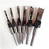 Taladro de acero de alta velocidad broca de la herramienta de corte Métricas ESCOPLEADORA Cincel de la carpintería de agujeros cuadrados Broca de 1/2' 3/8' 5/16' 1/4' taladro de madera