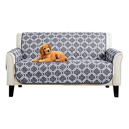 Sofa Covers Slipcovers Prevent Water Non-slip Pet Dog Sofa Protectors with Elastic Straps Snag Resistant & Soil Resistant (2 Seaters)