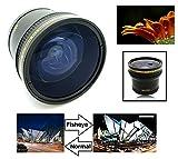 Super HD 0.17x Fisheye Lens with Macro for Canon VIXIA HF R80 R82 R800