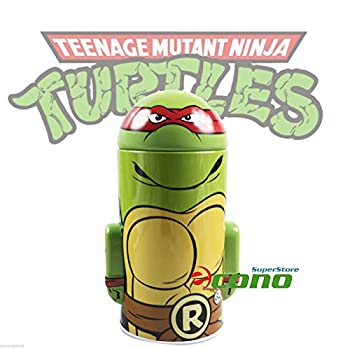 Collectable Teenage Mutant Ninja Turtle Tin Box Coin Piggy Bank Raphael