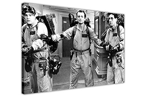 """Gerahmter Kunstdruck auf Leinwand Ghost Busters, Schwarz und Weiß, Film-Poster, canvas holz, schwarz / weiß, 03- 20"""" X 16"""" (50CM X 40CM)"""
