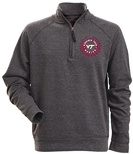 Camp David Rockhill Herren Fleecejacke mit 1/4-Reißverschluss, Herren, Textured Heathered 1/4 Zip Fleece, 7072, Charcoal Heather, Größe S