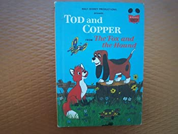 """Tod and Copper from """"The Fox and the Hound"""" - Book  of the Disney's Wonderful World of Reading"""