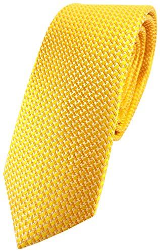 TigerTie - corbata de seda estrecha - amarillo dalias amarillas plata modelada