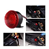Universal Motorcycle Electric Horn Kit DC12V 15W Red LED Horn Speakers For Scooter Moped Dirt Bike Motorcycle...
