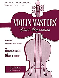 Violin Masters' Duet Repertoire: Violin Duet Collection - Unaccompanied (Rubank Educational Library)