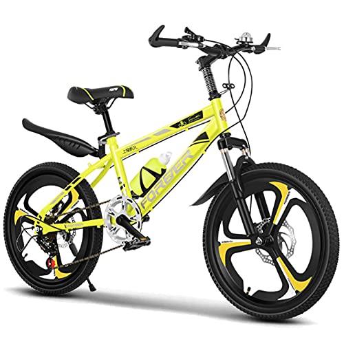 FUFU Bicicleta Al Aire Libre para Niños, Bicicleta De 18/20 Pulgadas, Marco De Alto Carbono, para 7-14 Años, 3 Colores(Size:20in,Color:Amarillo)