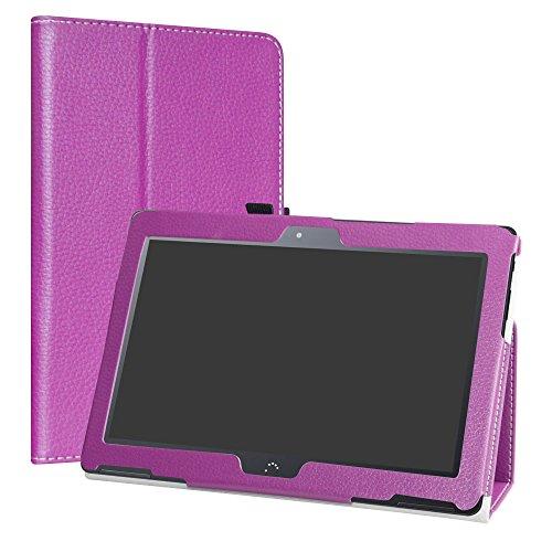 "LiuShan BQ Aquaris M10 Funda, Folio Soporte PU Cuero con Funda Caso para 10.1"" BQ Aquaris M10 Android Tablet,Púrpura"