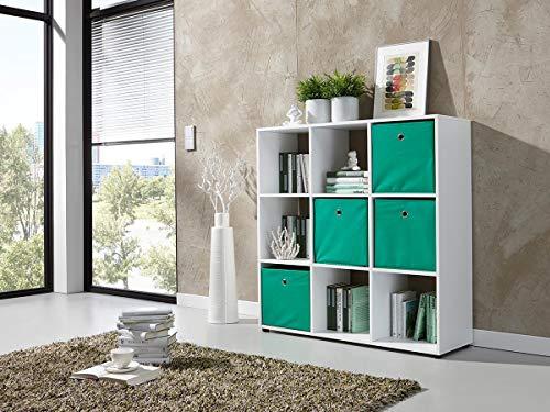 möbelando Raumteiler Bücherregal Regal Standregal Ordnerregal Büroregal Weiß Kokawe I