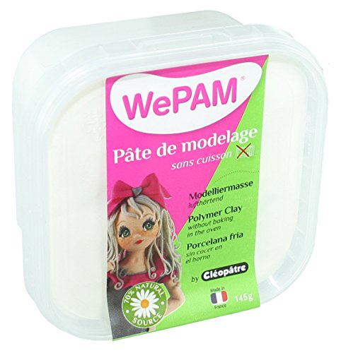 WePAM - PFWBBB-145 - Pasta de porcelana fría, 145 ml, color blanco