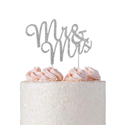 Bachelorette Party Wedding Wedding Shower Cake Topper Mr and Mrs Wedding Name Glitter Cake Topper Custom Name Cake Topper