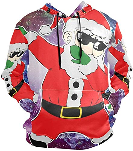 xinfub Sunglasses Dancing Santa Pullovers Hoodie Long Sleeve Hooded Athletic Hoodies Sweatshirts