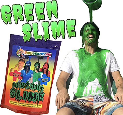 Instant Green Slime Powder. Bulk 32 Gallon Bag! Mix with Water to Fill a Pool, Bath or Make 25x 5qt Buckets of Slime! Great for fundraisers, Slime Blaster Guns, Slime Party Games, Color Runs & Slides