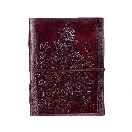 Fair Trade Indra Tagebuch Leder 135 x 185 mm Ganesha Groß