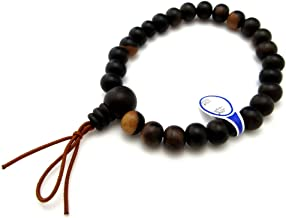 Black Persimmon Kaki Wood Bracelet Japanese Juzu Rosary Prayer Beads Jewel Handmade Kyoto Meditation Zen Crafts UDA12