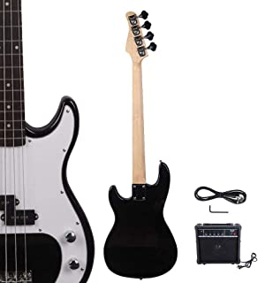 $144 » New Space Saver Portable Black Glarry GP 4 Strings School Band Electric Bass Guitar with AMP Compact Musical Instrument