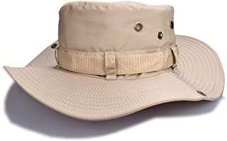 YSNRH Hat Stylish Sun Hat UV Protection Outdoor Bucket Hat for Jungle Hats Hiking Caps Fishing Hat with Adjustable Chin Strap Breathable Mesh Camping,Outdoor,Hiking,Summer (Color : Beige)