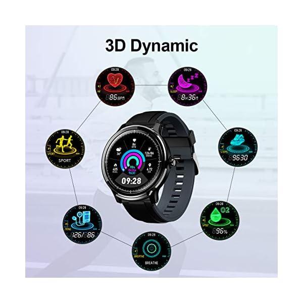 GOKOO Bluetooth Smartwatch Hombre Reloj Inteligente Fitness IP68 Impermeable Actividad Monitor Pulsómetro Compatible con… 6