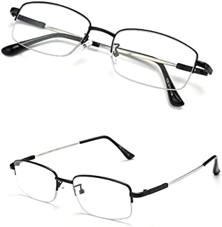 Comfortable Folding Far and Near Dual-use Reading Glasses Male Anti-Blue Light Intelligent Zoom to See Near and Far Glasses Beautiful (Color : Black, Size : +3.00)