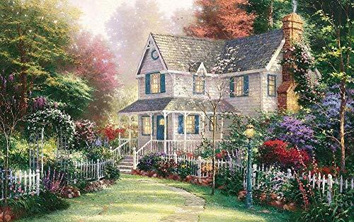 JYTD Erwachsene 1000 Stück Schöne Welt Puzzle Puzzle 1000 Stück Holz Lehrspielzeug Heimtextilien (Gartenhaus) 75 * 50CM